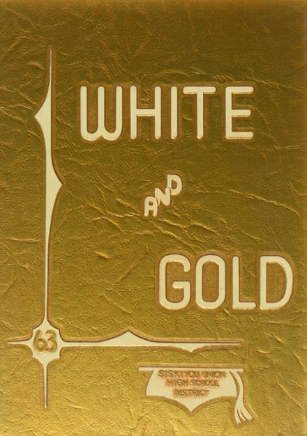 1963 Butte Valley High School Yearbook Cover