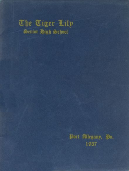 1937 Port Allegany High School Yearbook Cover