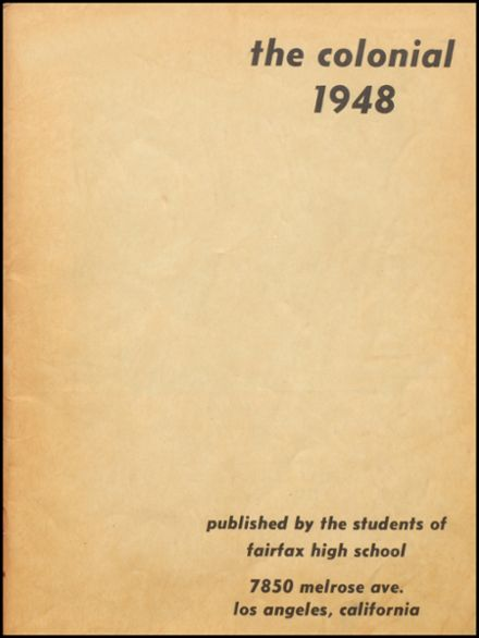 1948 Fairfax High School Yearbook Page 3