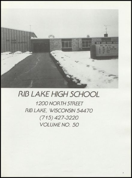 1987 Rib Lake High School Yearbook Page 5