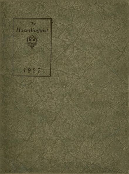1927 Haverling High School Yearbook Cover