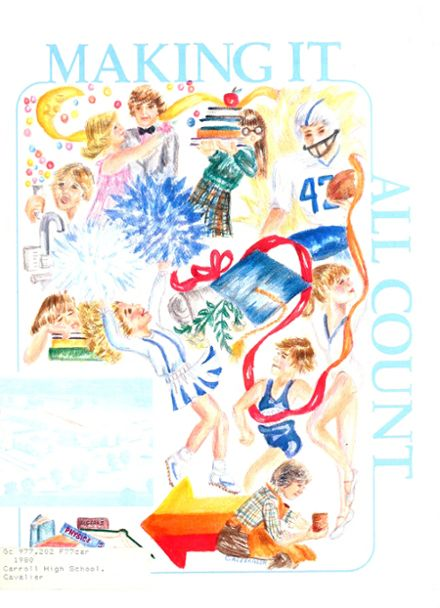 1980 Carroll High School Yearbook Cover