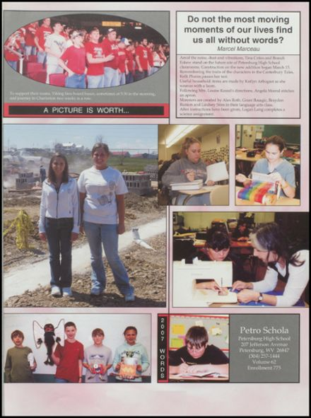 2007 Petersburg High School Yearbook Page 5