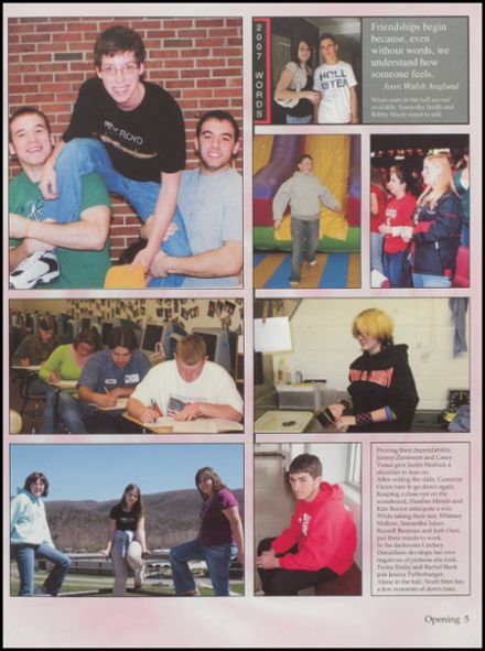 2007 Petersburg High School Yearbook Page 9