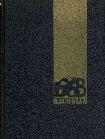 1968 Bacon Academy Yearbook Cover
