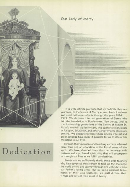 1949 Mt. St. Mary Academy Yearbook Page 7