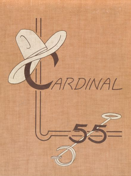 1955 Glendale High School Yearbook Cover