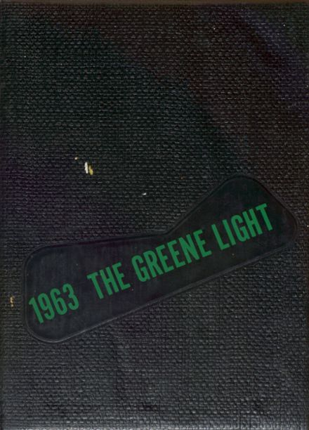 1963 Greene Community High School Yearbook Cover