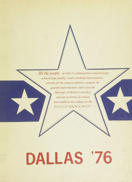 1976 Dallas High School Yearbook Cover