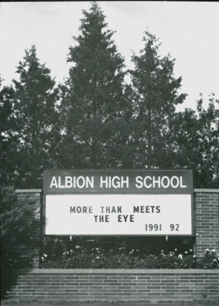 1992 Albion High School Yearbook Cover