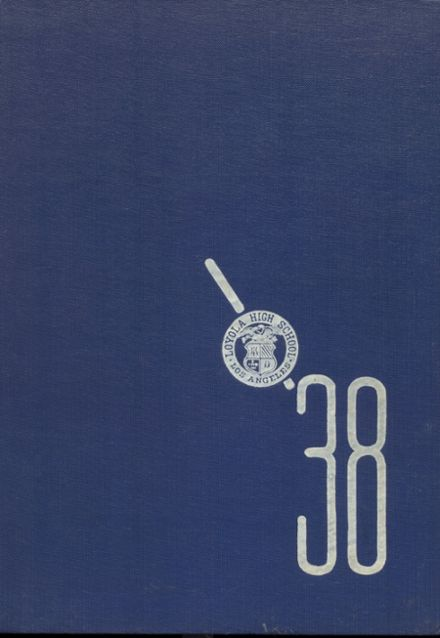 1938 Loyola High School Yearbook Cover