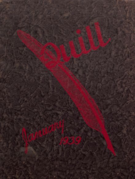 1939 East High School Yearbook Cover
