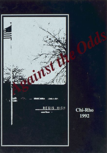 1992 Regis High School Yearbook Cover