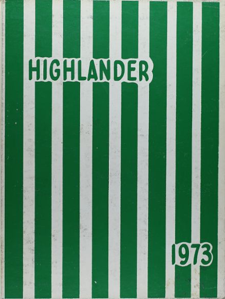 1973 Highland High School Yearbook Cover