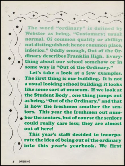 1993 Franklin High School Yearbook Page 6