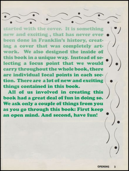 1993 Franklin High School Yearbook Page 7
