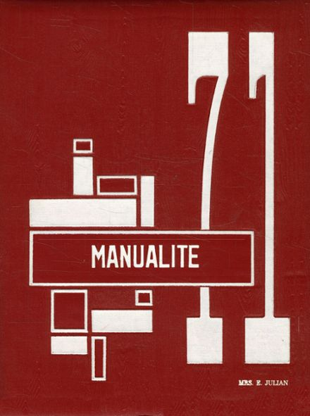 1971 Manual High School Yearbook Cover