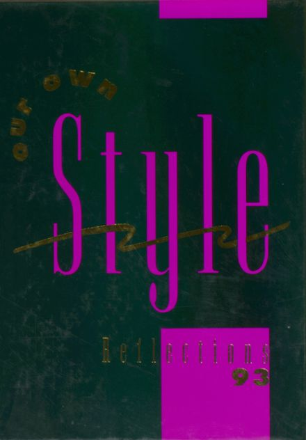 1993 Middletown Christian School Yearbook Cover
