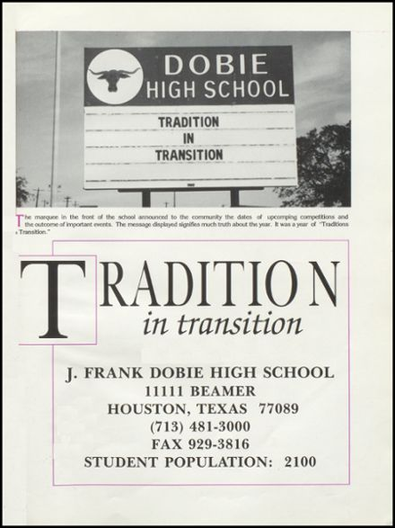 Explore 1996 Dobie High School Yearbook Houston Tx Classmates