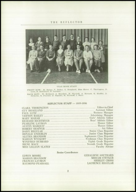 1936 Gilboa-Conesville Central High School Yearbook Page 4