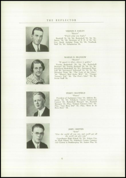 1936 Gilboa-Conesville Central High School Yearbook Page 8