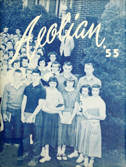 1955 Garrett High School Yearbook Cover