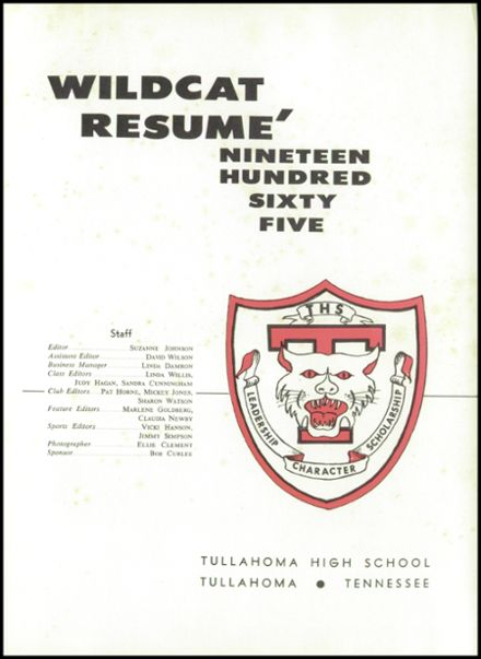 1965 Tullahoma High School Yearbook Page 5