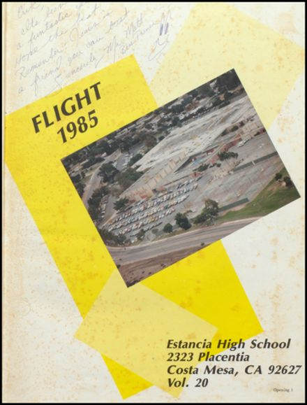 1985 Estancia High School Yearbook Page 5