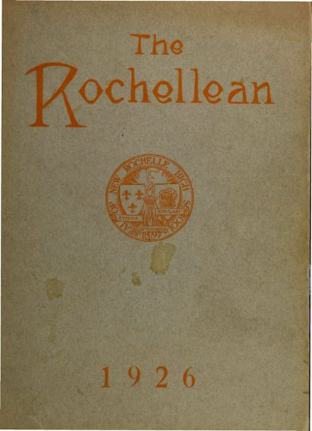 1926 New Rochelle High School Yearbook Cover