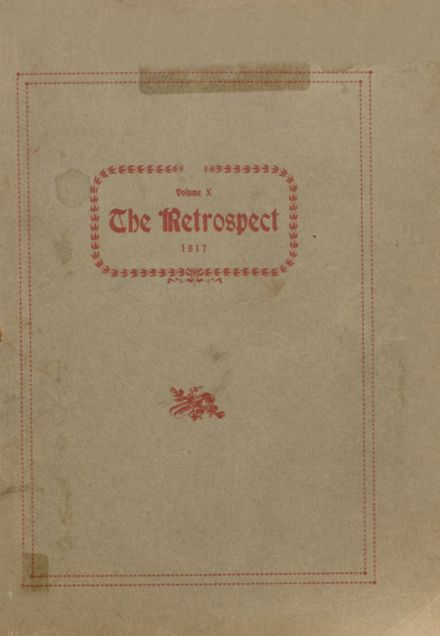 1917 Blume High School Yearbook Cover