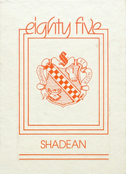 1985 Shadyside High School Yearbook Cover