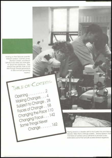 2000 Eureka High School Yearbook Page 2