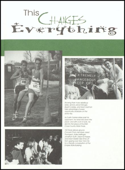 2000 Eureka High School Yearbook Page 3