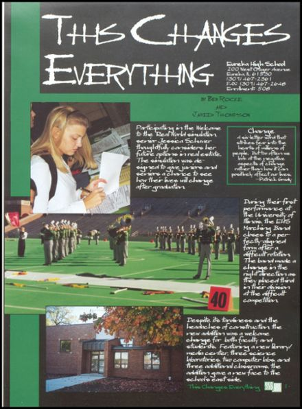 2000 Eureka High School Yearbook Page 5