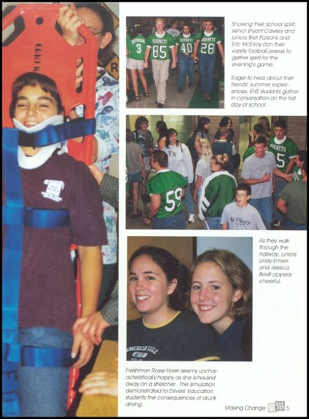 2000 Eureka High School Yearbook Page 9