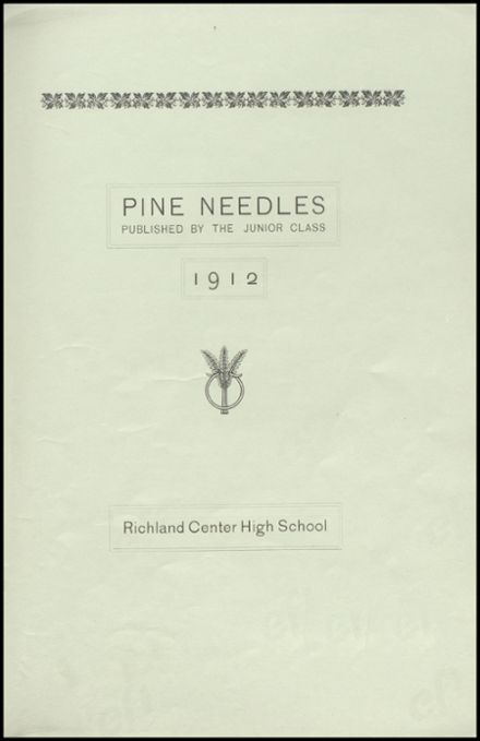 1912 Richland Center High School Yearbook Page 5