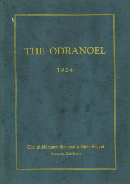 1924 Middletown Township High School Yearbook Cover