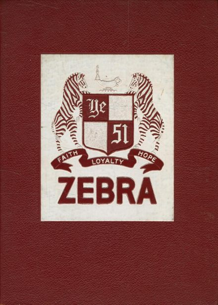 1951 Pine Bluff High School Yearbook Cover