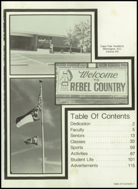 1982 Cape Fear Academy Yearbook Page 5