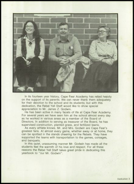 1982 Cape Fear Academy Yearbook Page 7