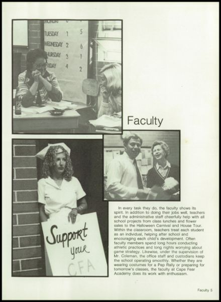1982 Cape Fear Academy Yearbook Page 9