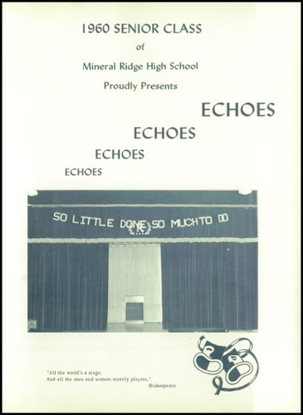 1960 Mineral Ridge High School Yearbook Page 5