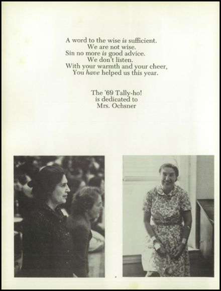 1969 Foxcroft High School Yearbook Page 8