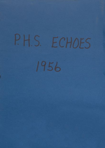 1956 Panora High School Yearbook Cover