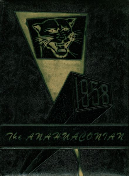 1958 Anahuac High School Yearbook Cover