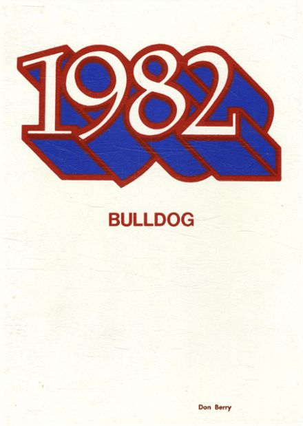 1982 West Union High School Yearbook Cover