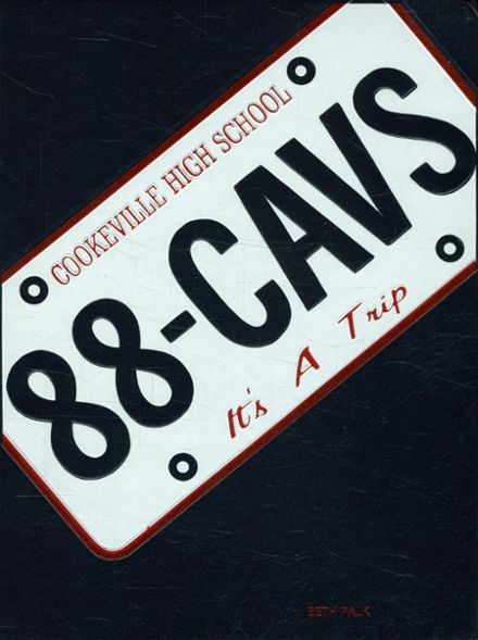 1988 Cookeville High School Yearbook Cover