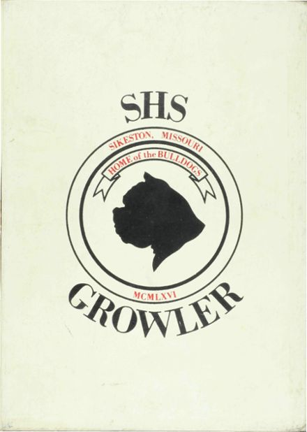 1966 Sikeston High School Yearbook Cover