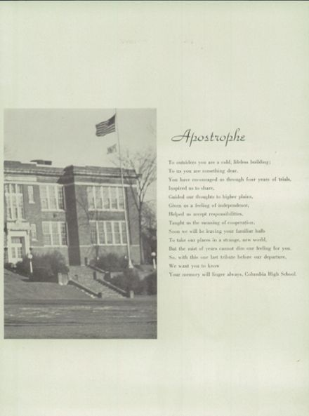 1946 Columbia High School Yearbook Page 5