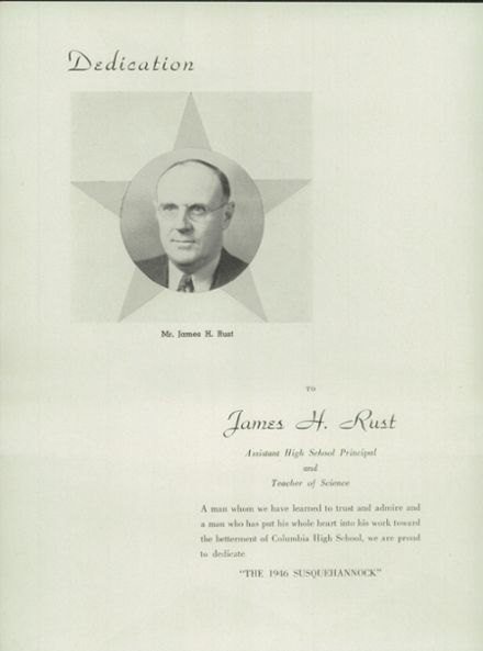 1946 Columbia High School Yearbook Page 8
